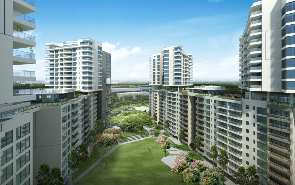 Landscaped gardens - Embassy Lake Terraces, Bangalore